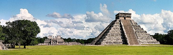 Chichen Itza pyramid stone