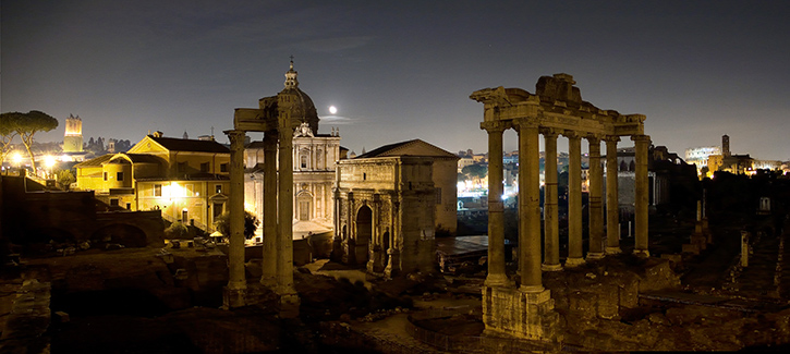 The Forum at night Rome