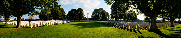 Bayeux Cemetery from inside