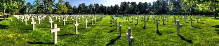 Crosses in the American Cemetery in Omaha Beach
