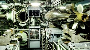 Redoutable nuclear submarine torpedo room