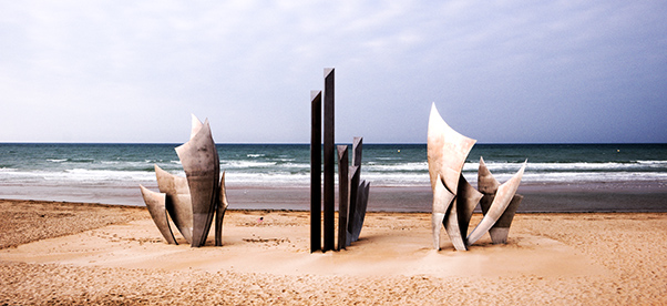 Les Braves Monument At Omaha Beach