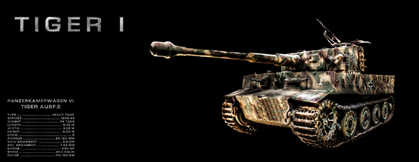 Panzer Tiger Black Background