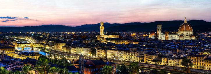 Florence at Dusk Panorama