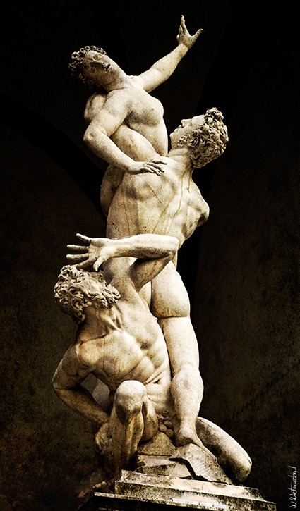 Rape Of The Sabine Women - Vintage Version