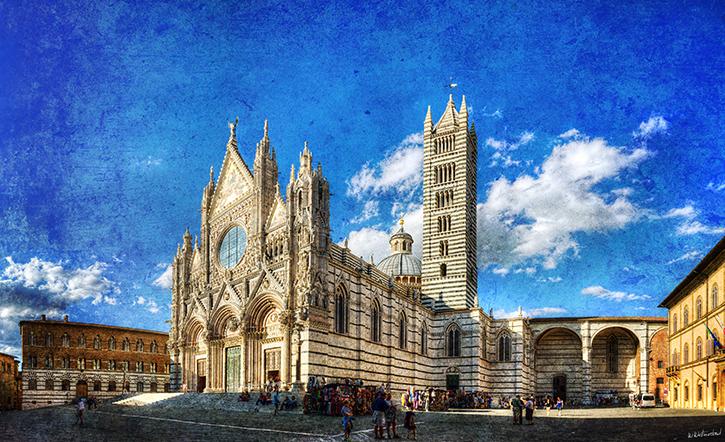 Siena - Duomo 01 vintage