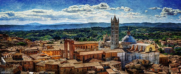 Siena - Duomo from mangia vintage
