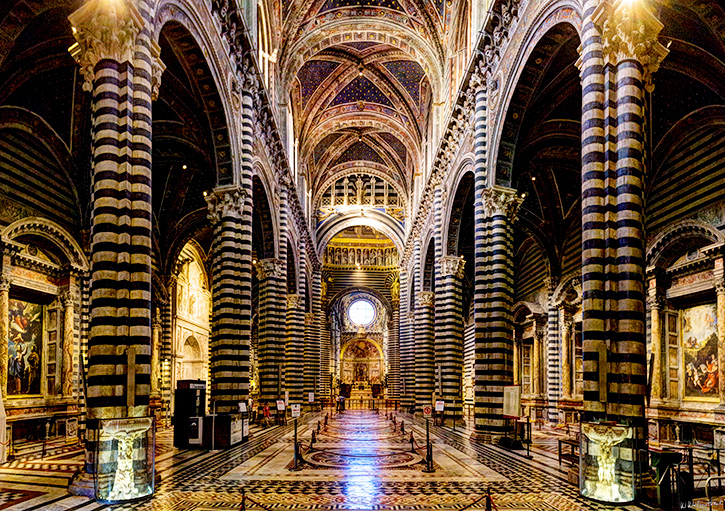 Main nave of the Duomo in Siena. Weston Westmoreland